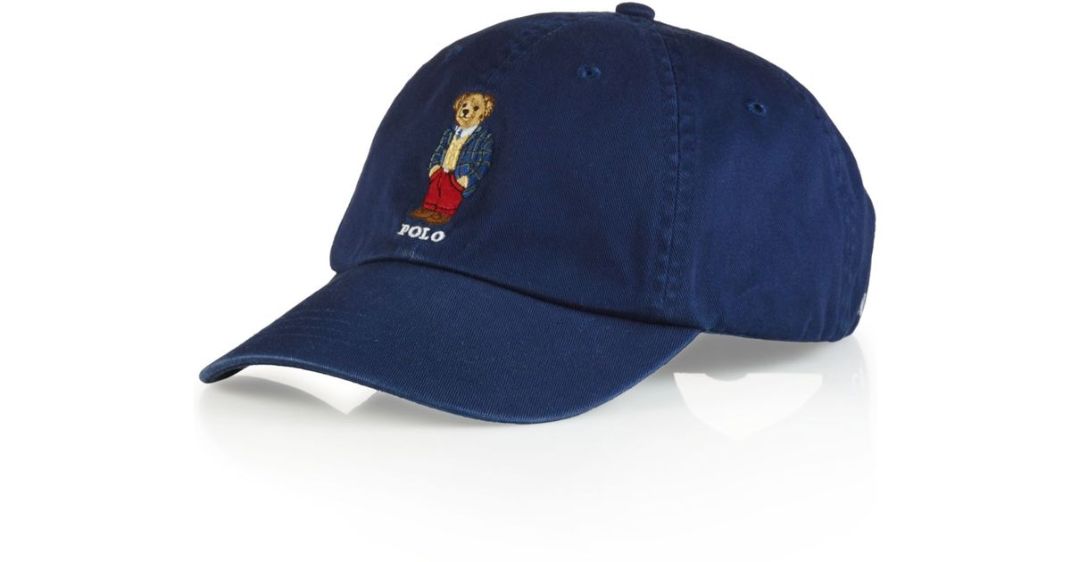 d498a465cd693 Lyst Polo Ralph Lauren Polo Bear Chino Baseball Cap Preppy Polo