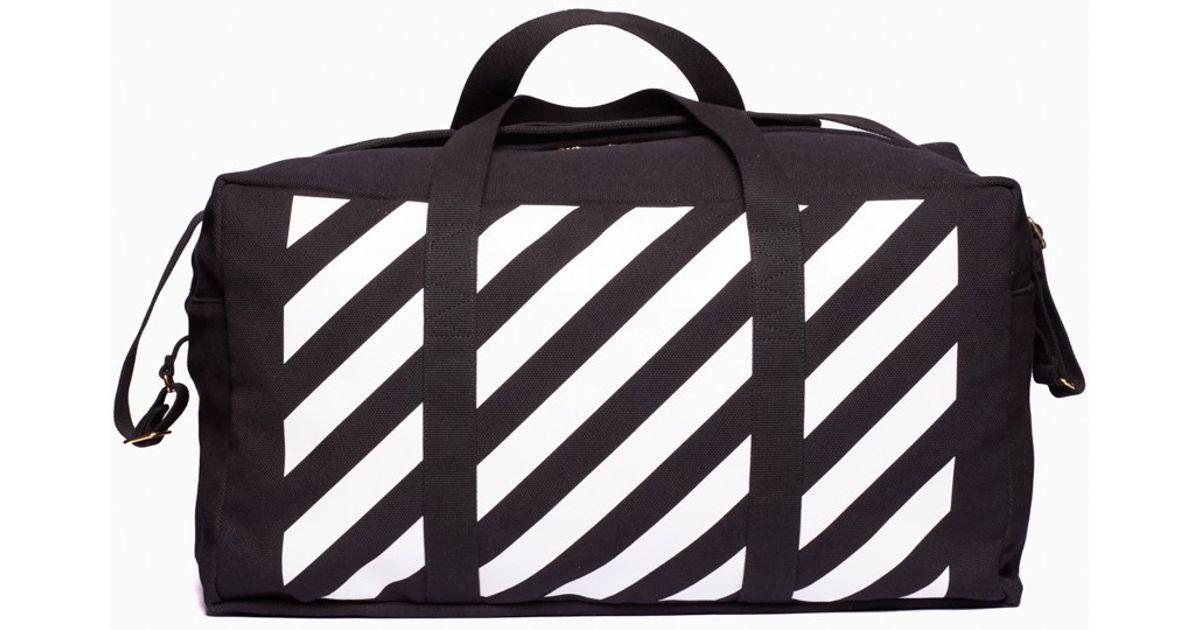 b366df8742ba Lyst - Off-White c o Virgil Abloh Duffle Bag in Black for Men