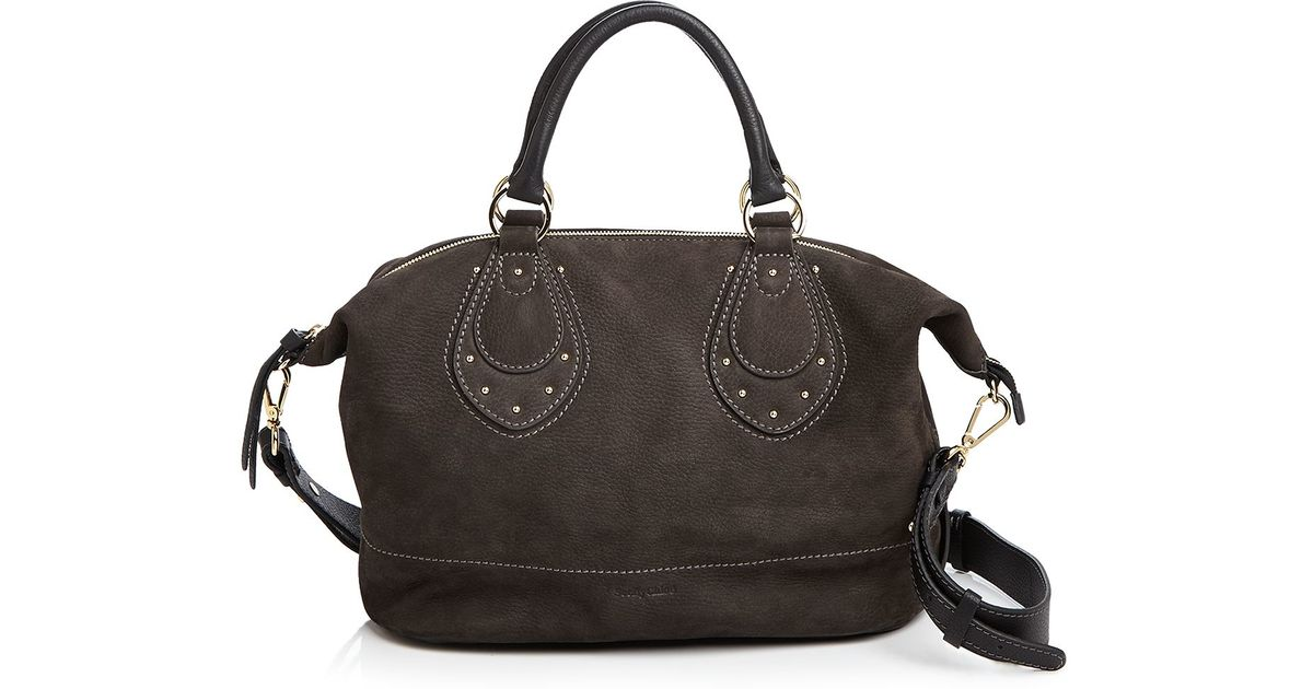 57950d5b4df4 See By Chloé See By Chloé Janis Nubuck Satchel in Gray - Lyst