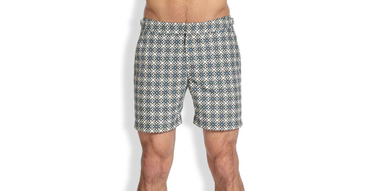 f5460f41af4e2 Orlebar Brown Bulldog Orbital Print Swim Trunks in Gray for Men - Lyst