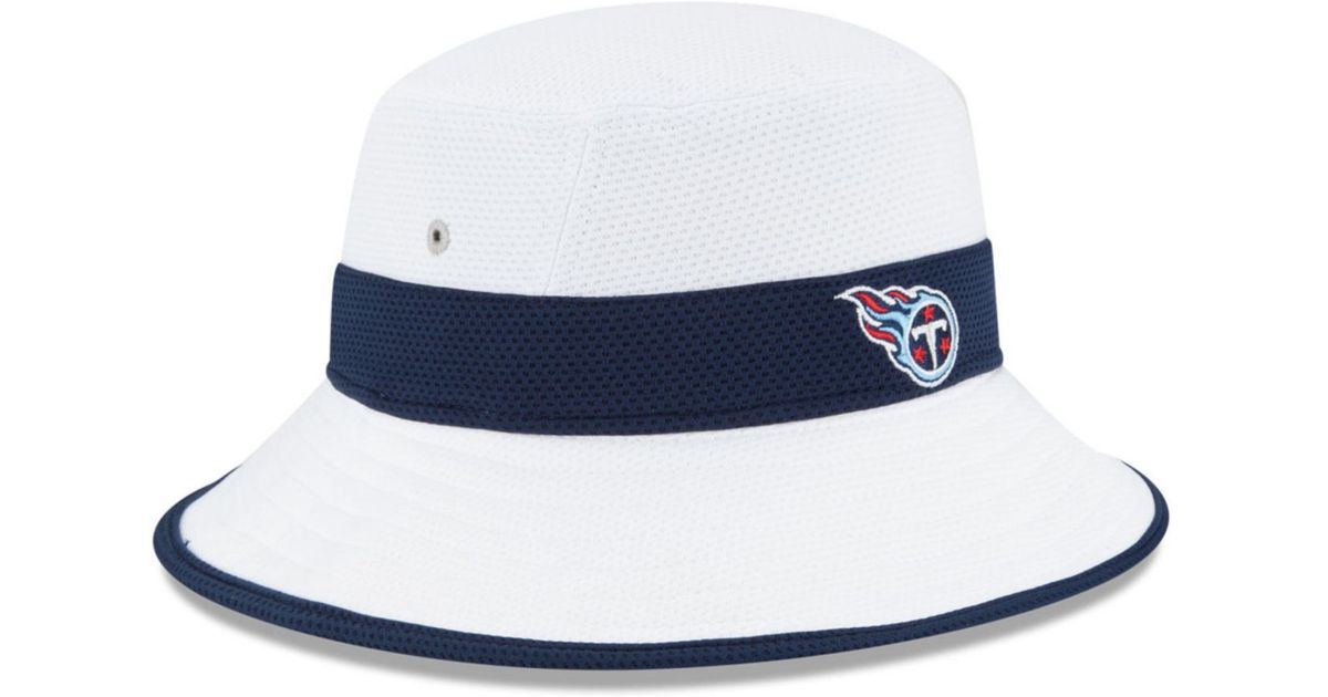 29cf68865fa Lyst - KTZ Tennessee Titans Training Camp Reverse Bucket Hat in Black for  Men