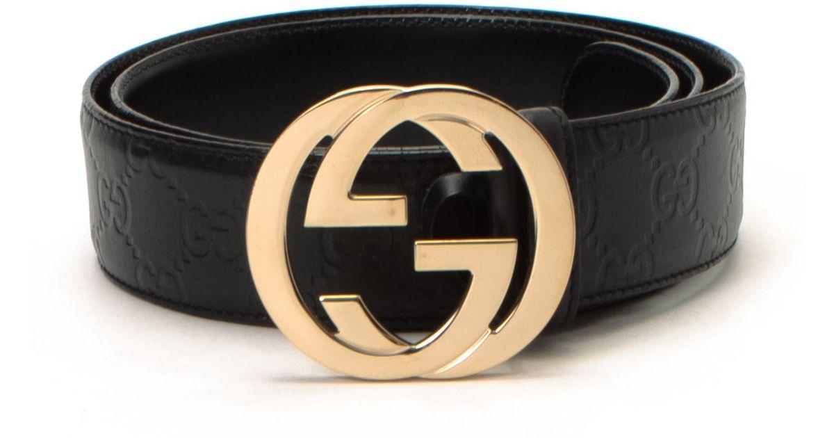 43d92e13ce1 Lyst - Gucci Belt - Vintage in Black