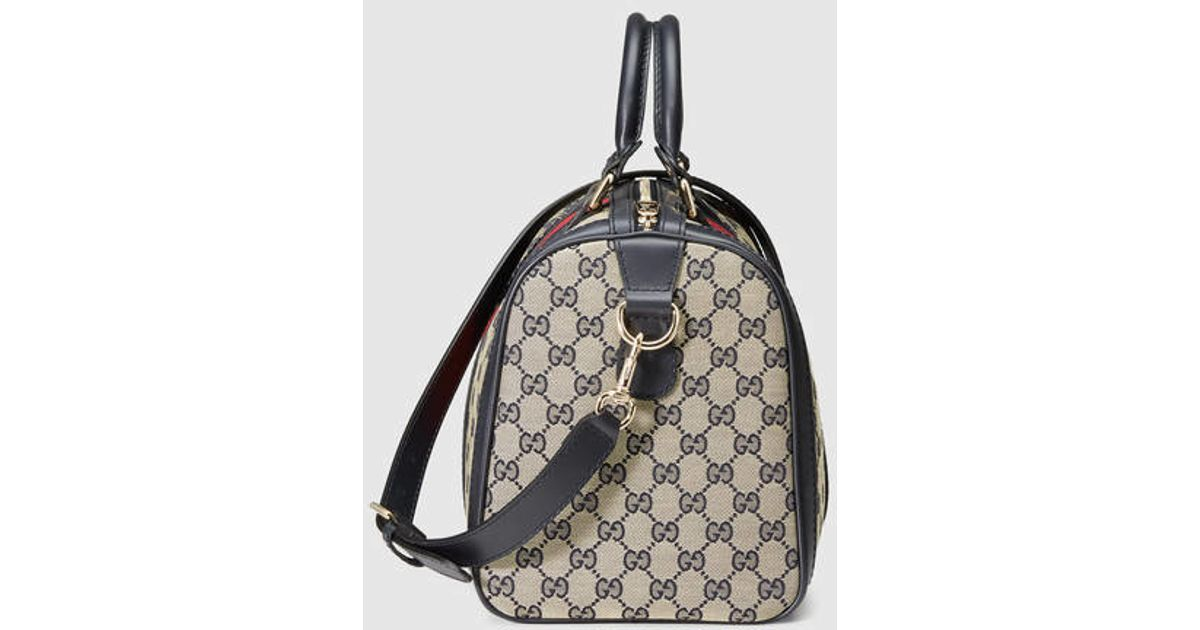 8a17e7ac537c Lyst - Gucci Vintage Web Original Gg Boston Bag in Black