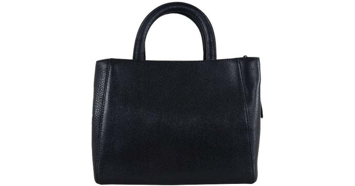 Lyst - Halston Halston Mini Mf Satchel in Black 6701911491576