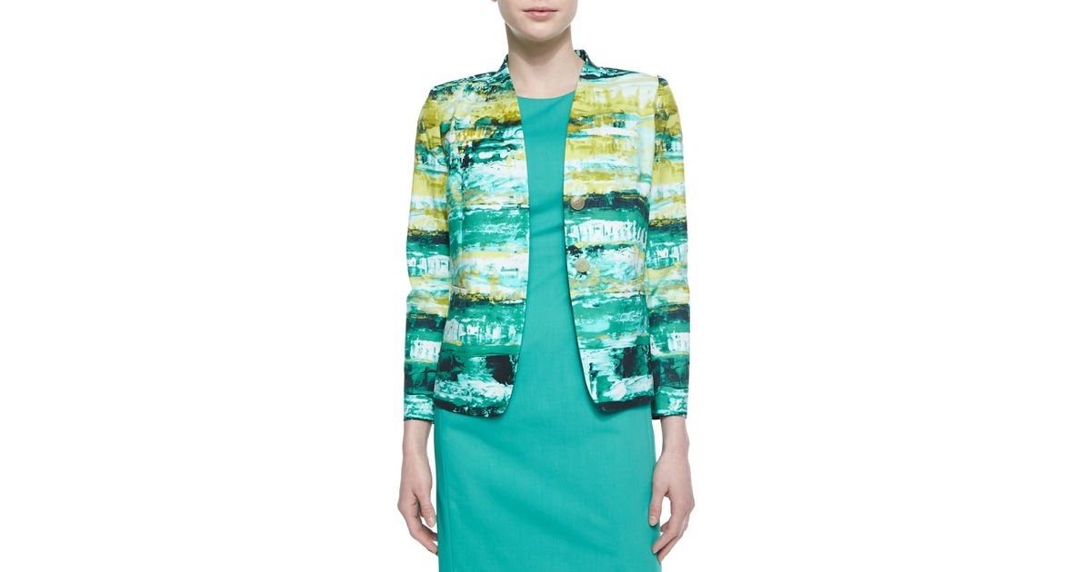 Lafayette 148 New York Lilith 2 Button Printed Jacket Lyst