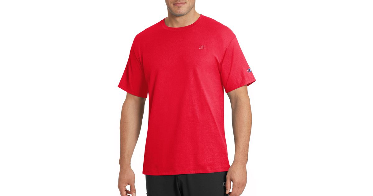 efe2248f7ddf Champion Classic Jersey Tee in Red for Men - Lyst