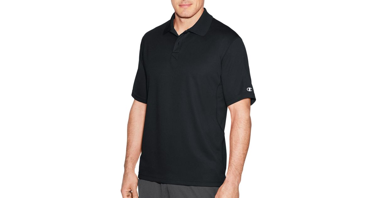 1fc17809 Lyst - Champion Double Dry® Solid-color Polo Shirt in Black for Men