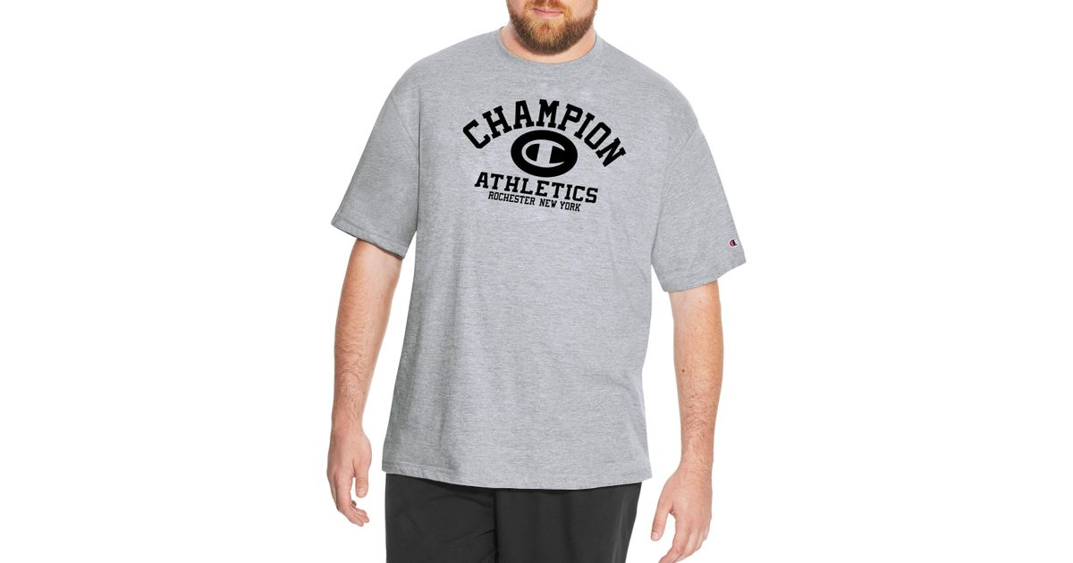 9a2ef34de Lyst - Champion Heritage Big & Tall Graphic Tee in Gray for Men