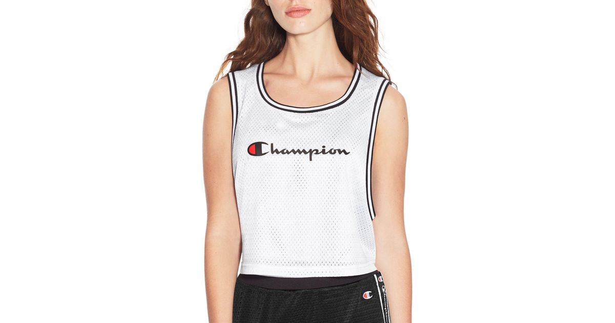a15bfecfea4 Champion Life® Reversible Mesh Cropped Tank in White - Lyst