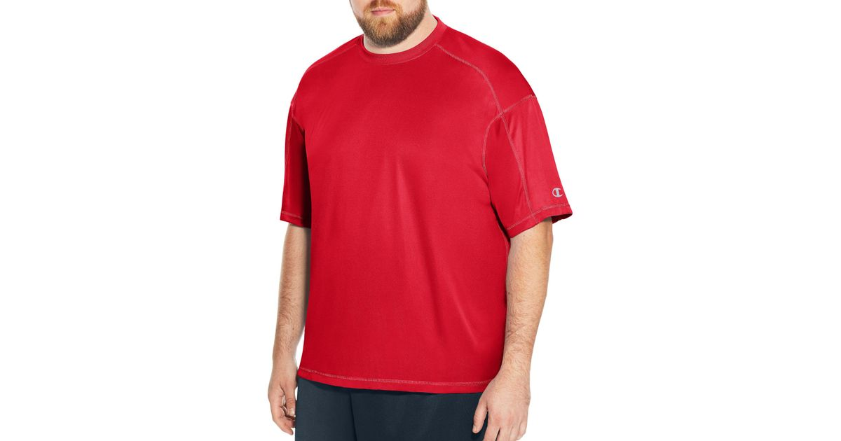 25e887423 Lyst - Champion Big & Tall Core Basic Performance Tee in Red for Men