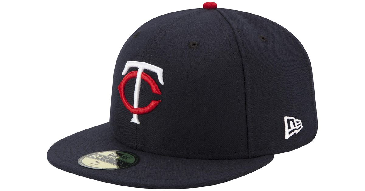 sports shoes 4768f bba04 KTZ Minnesota Twins Mlb 59fifty Authentic Cap in Blue for Men - Lyst