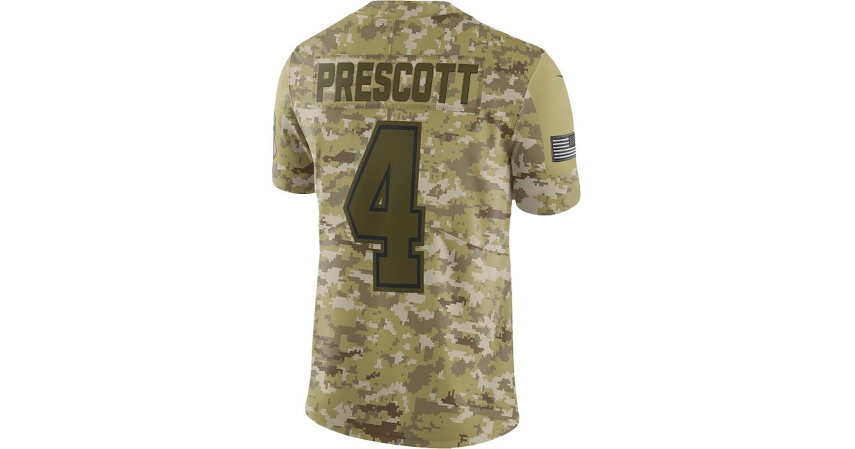 new product 93e29 7ea86 Nike - Green Dak Prescott Nfl Salute To Service Limited Jersey for Men -  Lyst