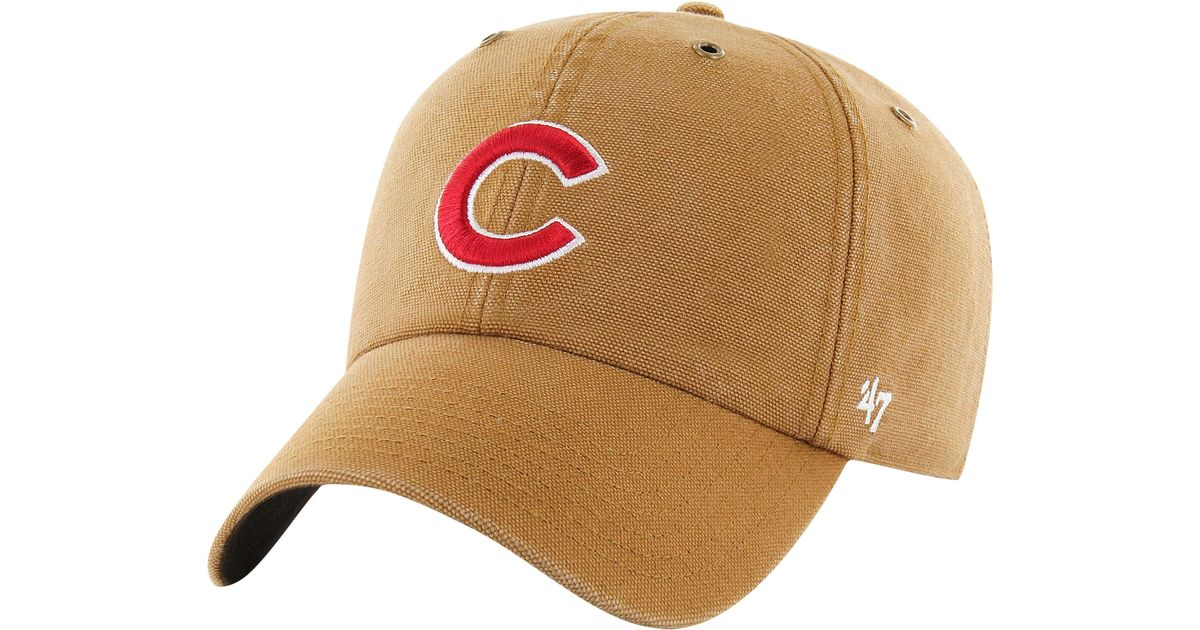 free shipping 24d23 107a2 47 Brand Chicago Cubs Mlb X Carhartt Clean Up Cap for Men - Lyst