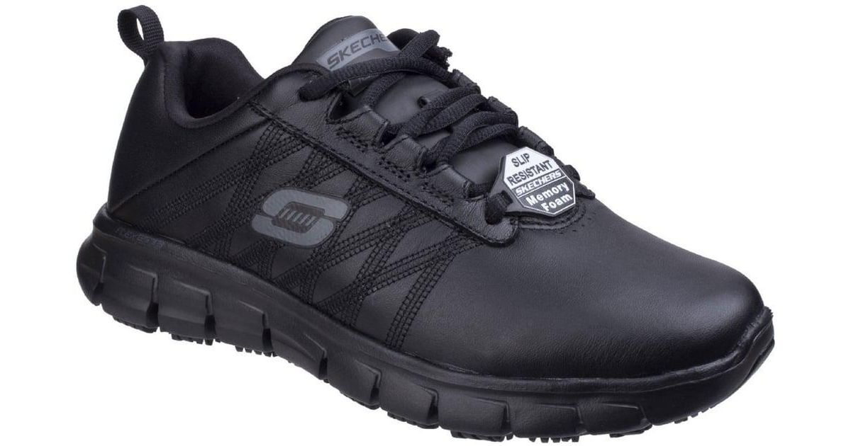a0b5e8799fabd Skechers Sure Track Erath Womens Slip Resistant Work Shoes in Black - Lyst