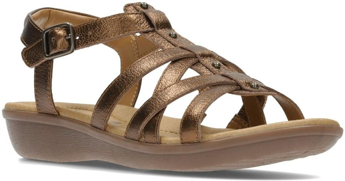 21fa54c1c7c Clarks Manilla Bonita Womens Casual Sandals in Brown - Lyst