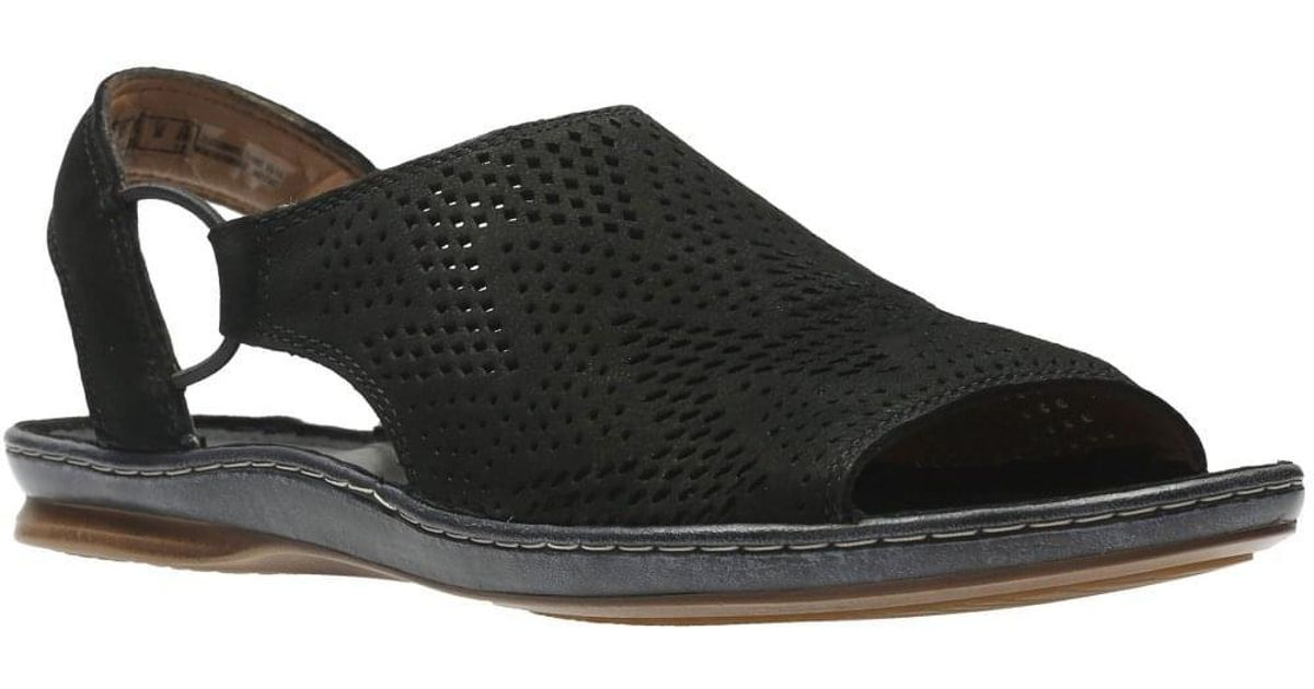 11b4a8f8ad79 Lyst - Clarks Sarla Cadence Womens Peep-toe Sandals in Black
