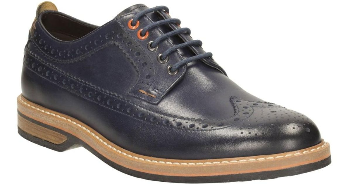Clarks Pitney Limit Mens Casual Shoes in Blue for Men - Lyst 63425e8fa92