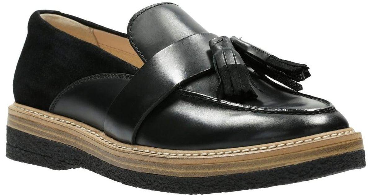 Lyst - Clarks Zante Spring Womens Tassel Loafer in Black