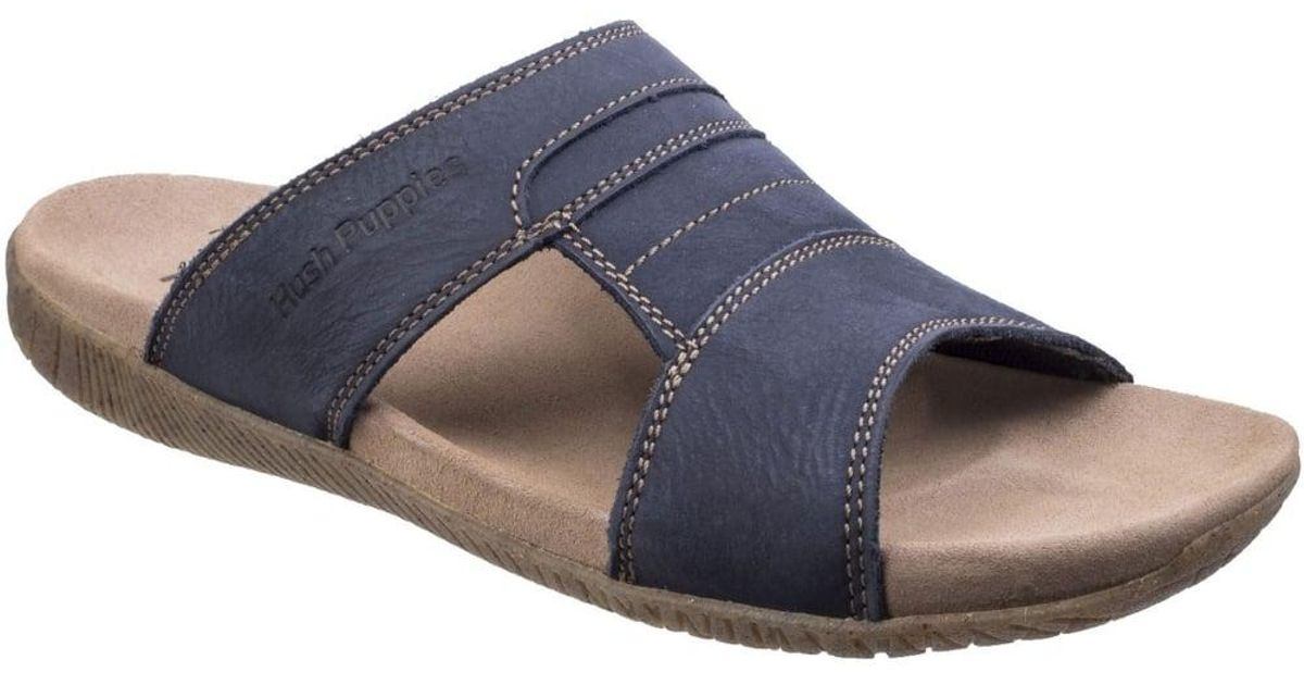 337338d8c1f Lyst - Hush Puppies Mutt Slider Mens Sandals in Blue for Men