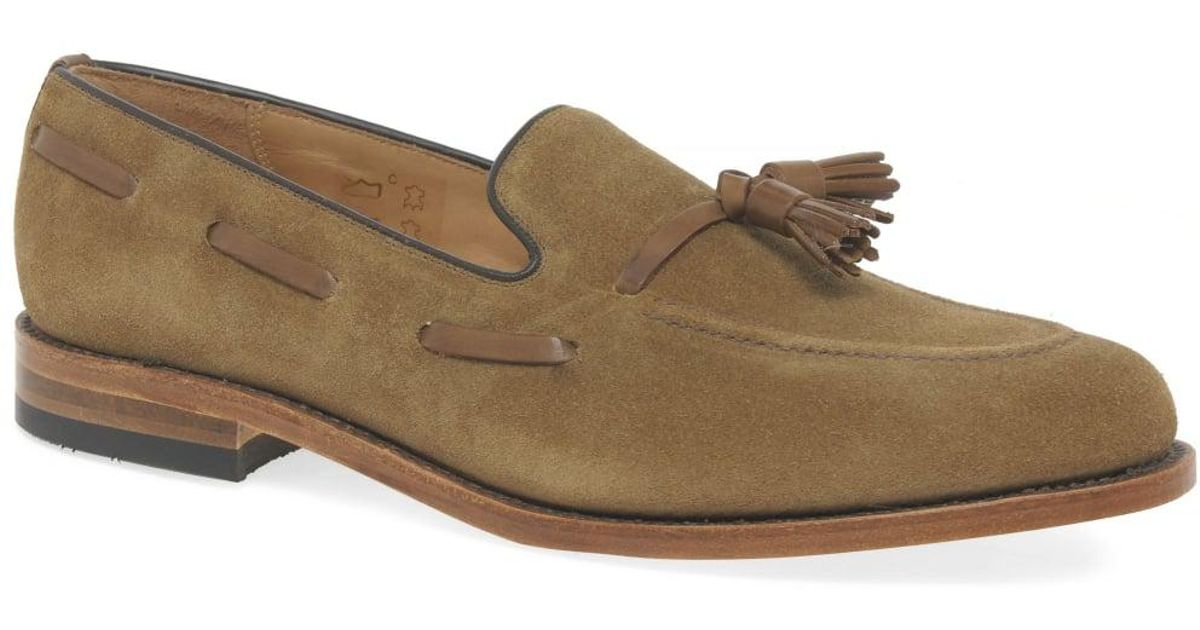 f3b6de058f7 Lyst - Loake Lincoln Mens Suede Tassel Loafers in Brown for Men