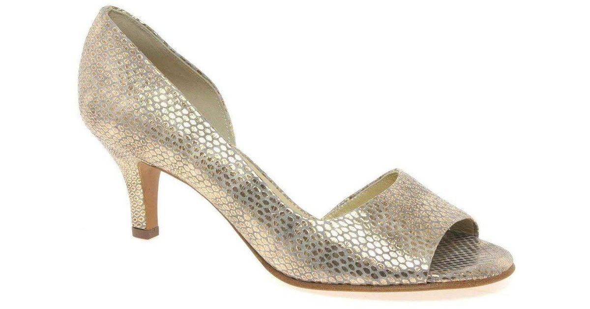 bde3eb91352 Peter Kaiser Jamala Ii Womens Open Toe Court Shoes in Metallic - Lyst