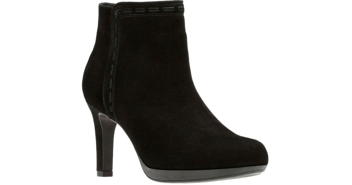 c4faf5bf6d57 Clarks Adriel Sadie Womens Ankle Boot in Black - Lyst
