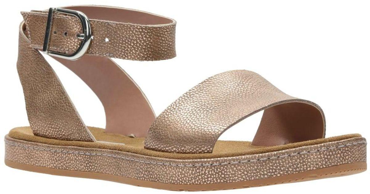 4bdb9c0d6 Lyst - Clarks Romantic Moon Womens Casual Sandals in Metallic