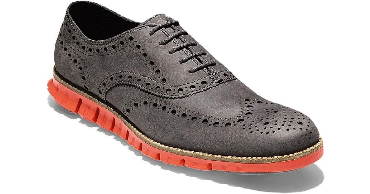 f8b2eb827237f7 Cole Haan Zerogrand Wingtip Oxford Mens Shoes for Men - Lyst