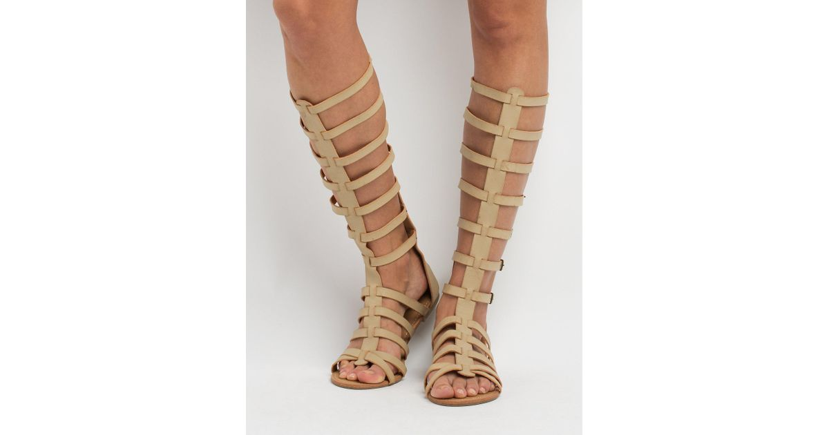 Charlotte Knee Gladiator Buckled High Lyst Russe Natural Sandals dBWxeQroCE