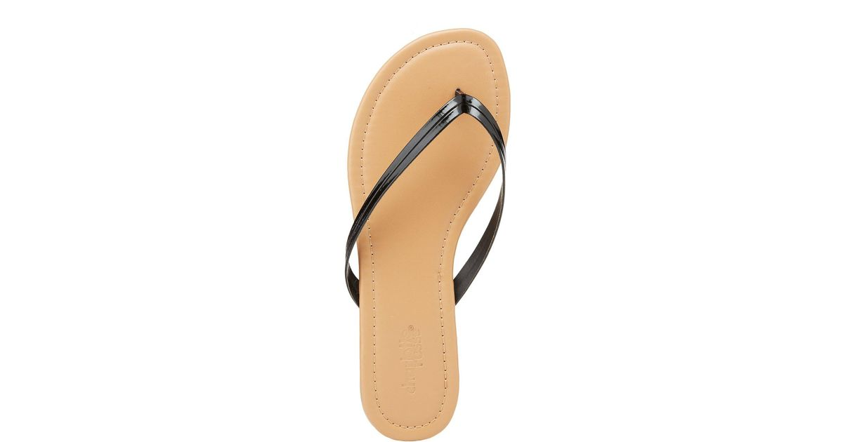 a78509c9d Lyst - Charlotte Russe Faux Patent Leather Flip Flops in Black - Save  71.42857142857143%