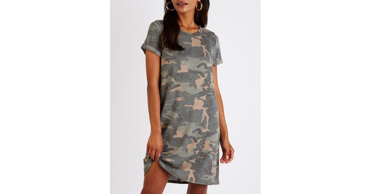 785b933d0cb Lyst - Charlotte Russe Camo T Shirt Dress