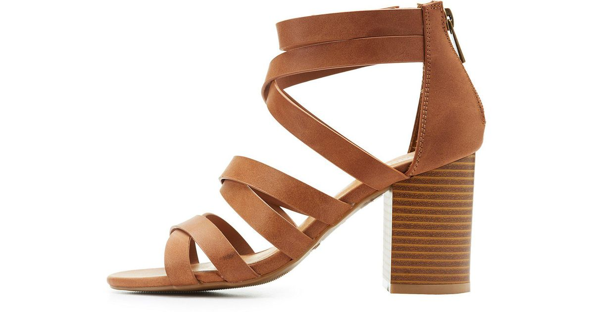 fb8843fa907 Charlotte Russe - Brown Bamboo Strappy Sandals - Lyst