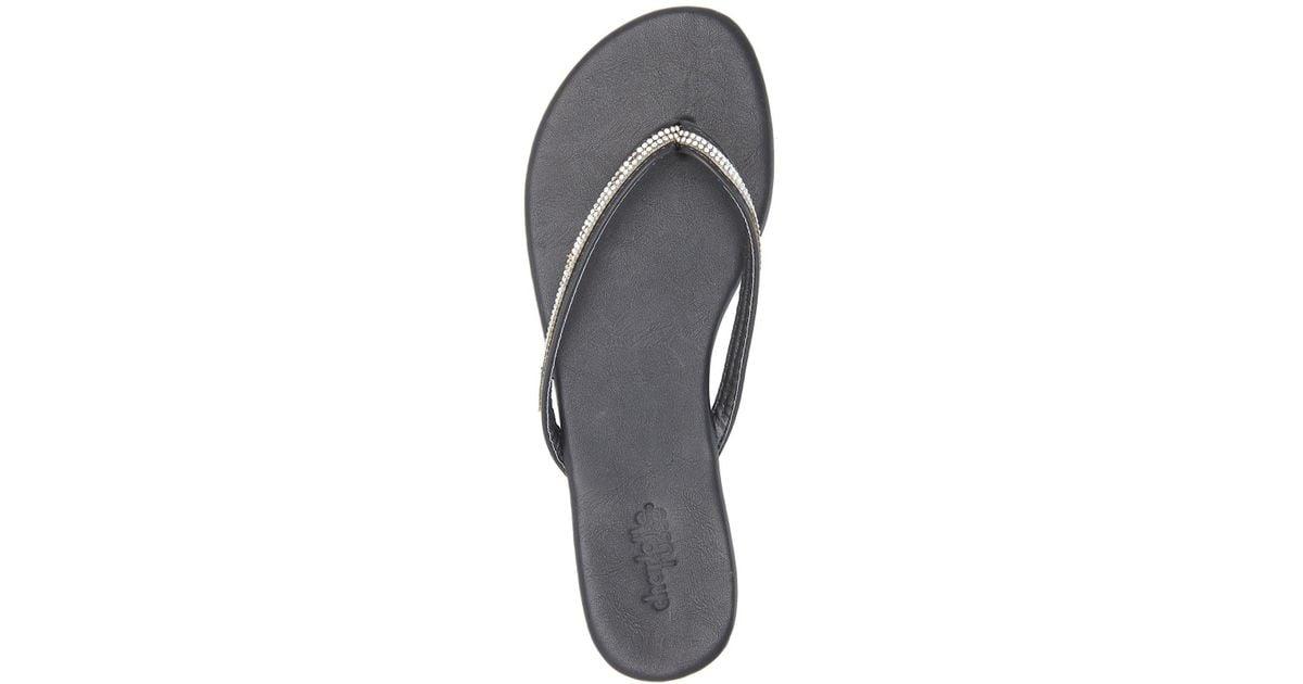 dcbbe511bcc7 Lyst - Charlotte Russe Rhinestone Embellished Flip-flop Sandals in Black