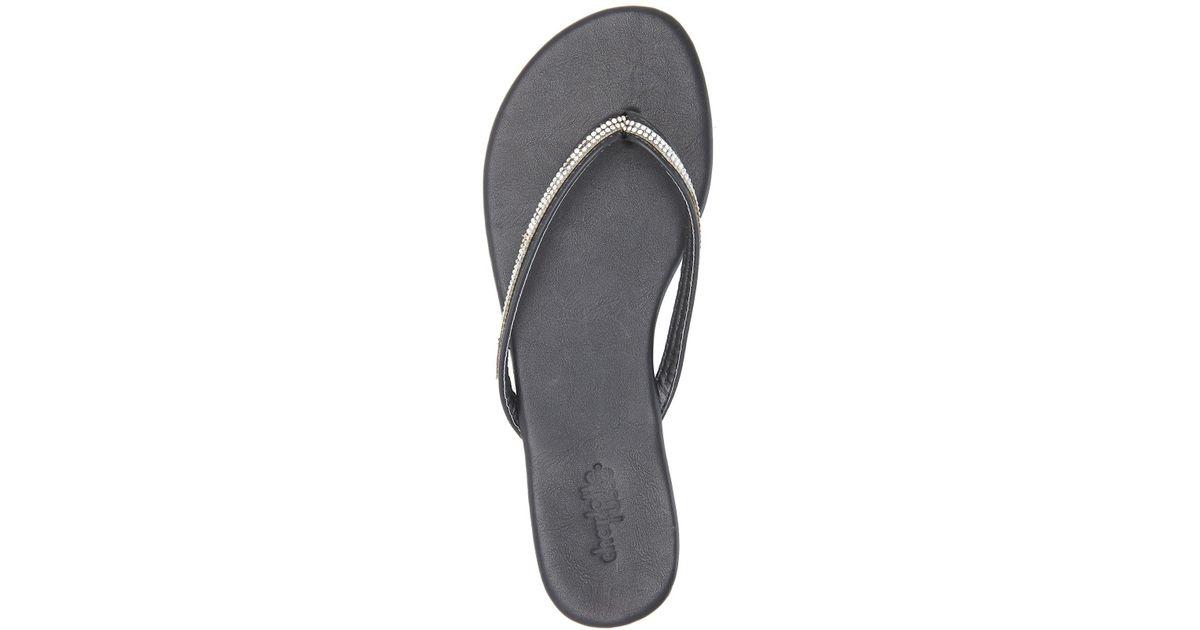 3262867a5 Lyst - Charlotte Russe Rhinestone Embellished Flip-flop Sandals in Black