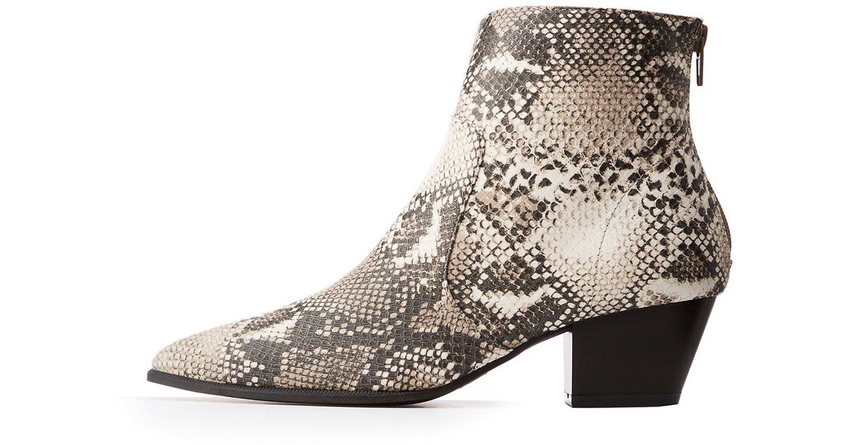 a5e72b1a58e5 Lyst - Charlotte Russe Pointed Toe Booties