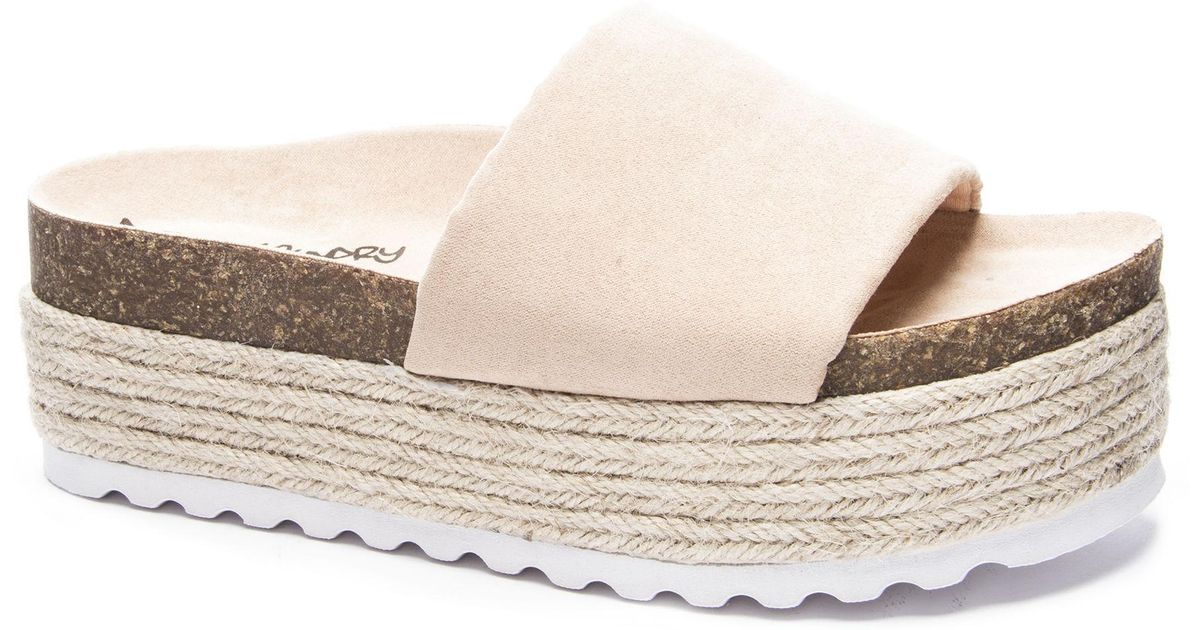 4b28cb30cea1 Lyst - Dirty Laundry Pippa Slide Sandal in Natural