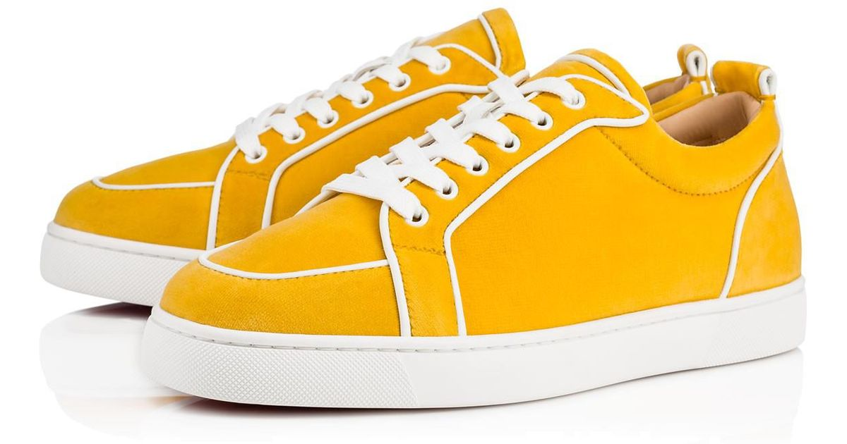 65826e8d581 authentic christian louboutin sneakers low white yellow 4c65e 89ee2