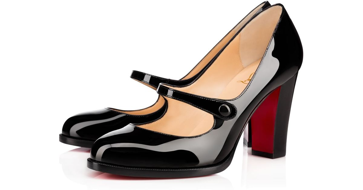 Christian Louboutin Top Street Patent In Black Lyst