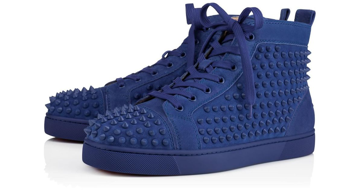337341a8db1c Lyst - Christian Louboutin Louis Spikes Men s Flat in Blue for Men