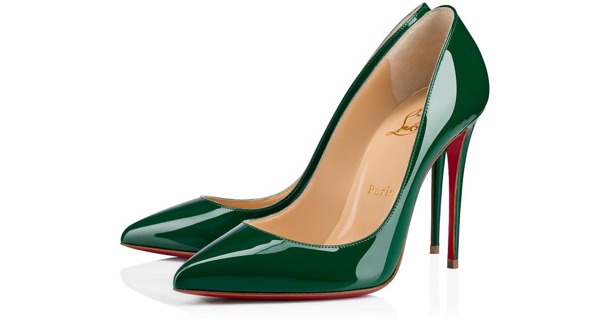 55e370660ad6 Lyst - Christian Louboutin Pigalle Follies in Green