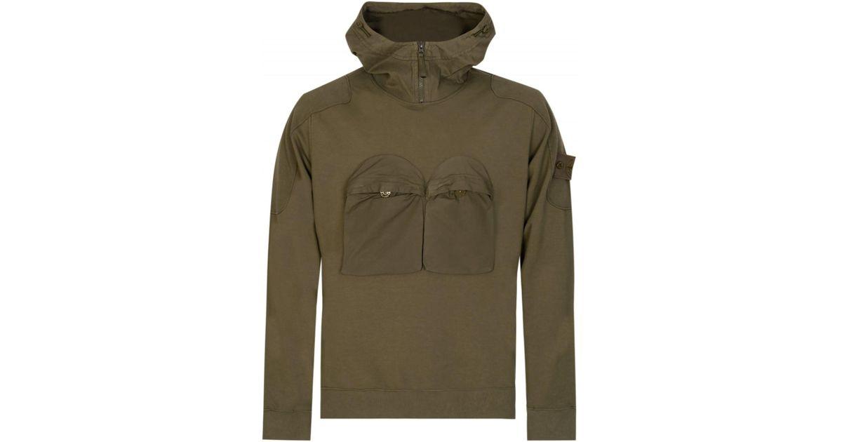 Stone Island Ghost Piece Sweatshirt In Green For Men Lyst