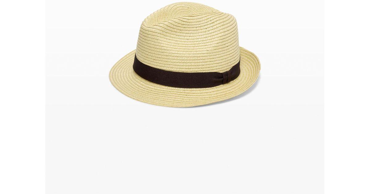 1f70fd6ee8def Club Monaco Summer Fedora in Natural for Men - Lyst