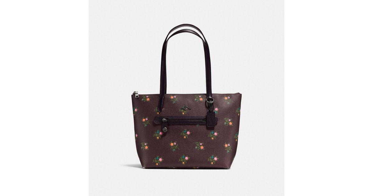 f36b0d9a67c1 Lyst - COACH Taylor Tote With Cross Stitch Floral Print
