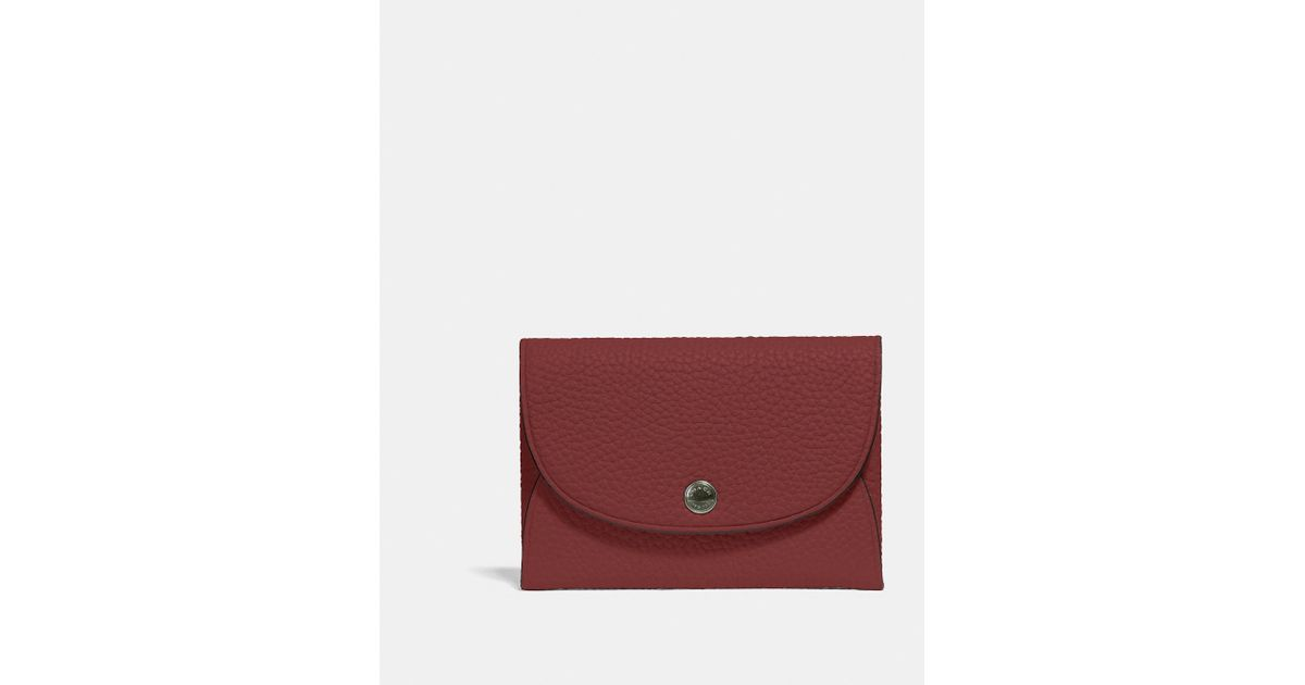 170d72941e COACH - Red Snap Card Case In Colorblock for Men - Lyst