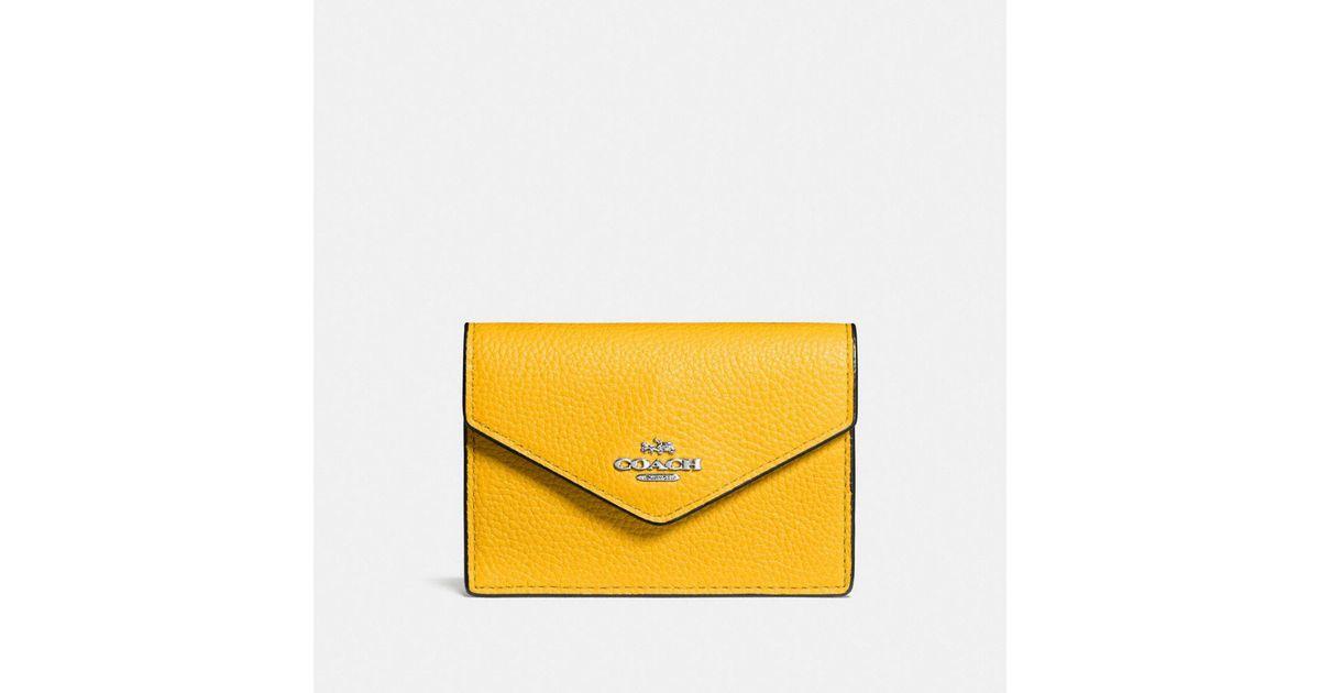 4714c5b82a6e Lyst - COACH Envelope Card Case in Yellow