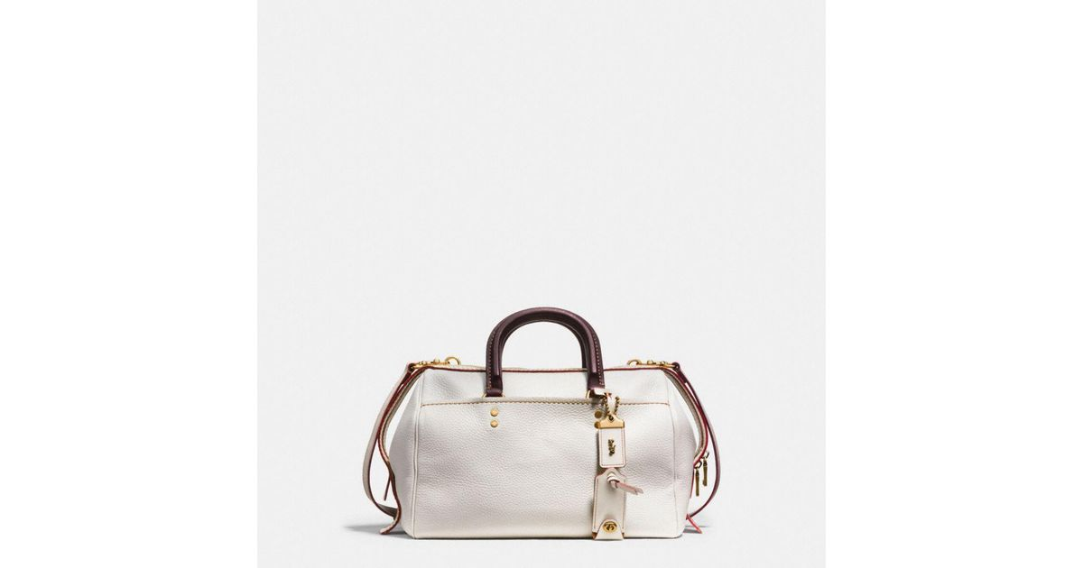 c4890e77c COACH Rogue Satchel In Glovetanned Pebble Leather - Lyst