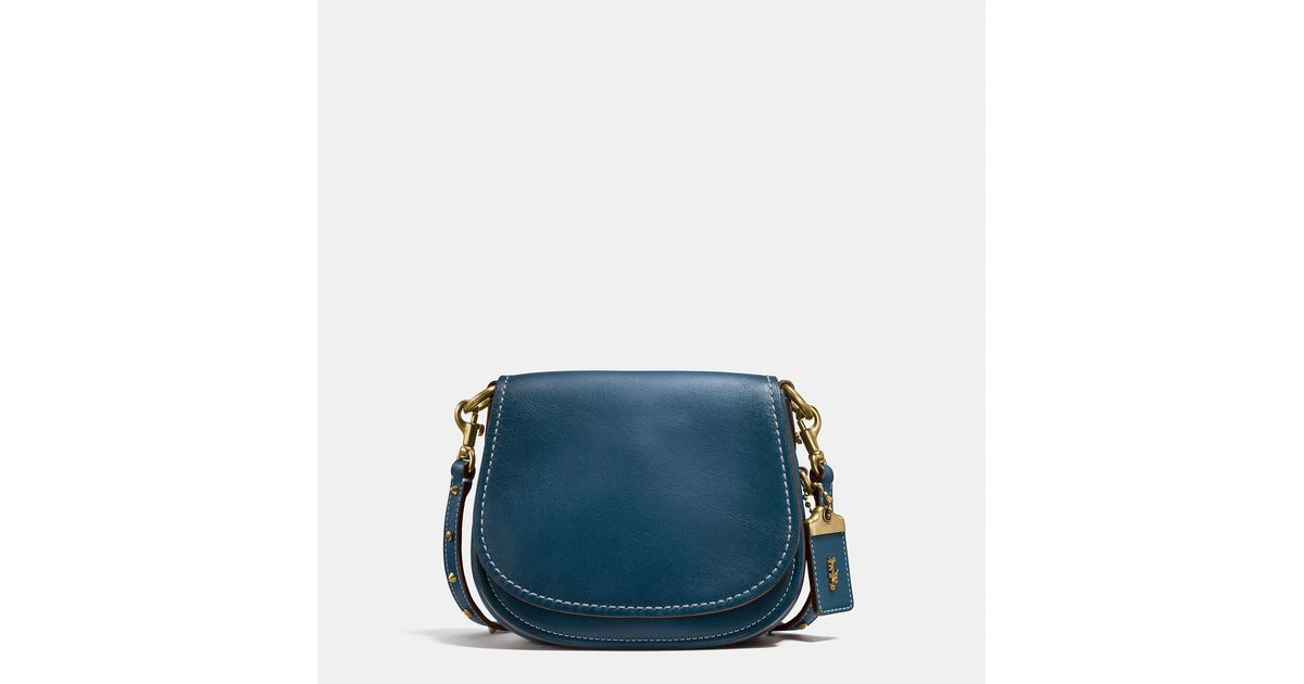 817e4035001 ... hot sale online 5bf9c b8148 Lyst - Coach Saddle Bag 17 In Glovetanned  Leather ...