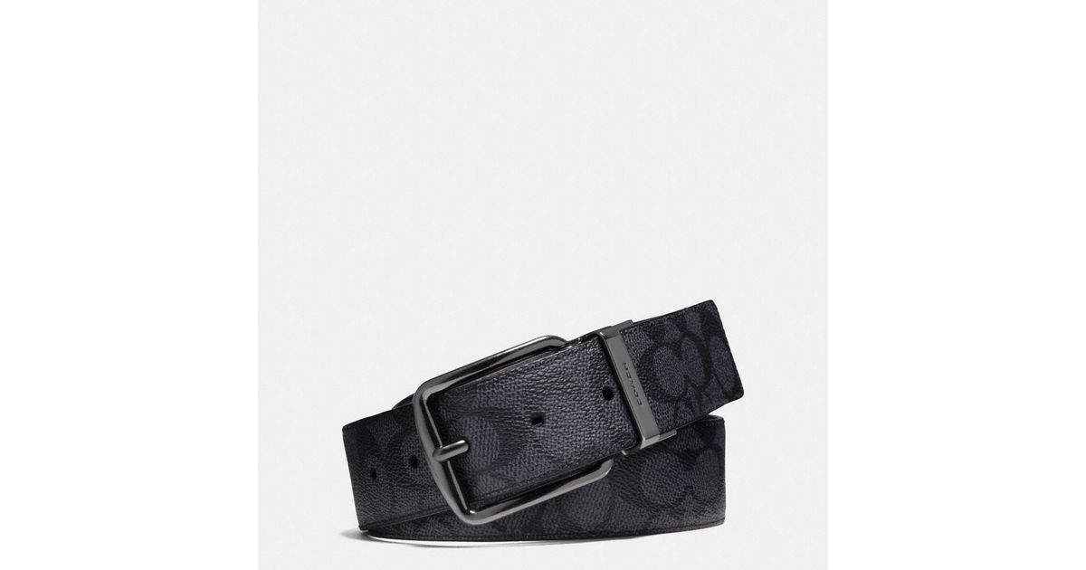 4d9204d2ce3a Lyst - COACH Wide Harness Cut-to-size Reversible Signature Belt in Gray for  Men