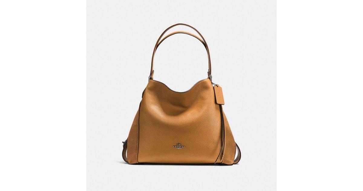 a98e6bc1b5b5 COACH Edie Shoulder Bag 31 in Brown - Lyst