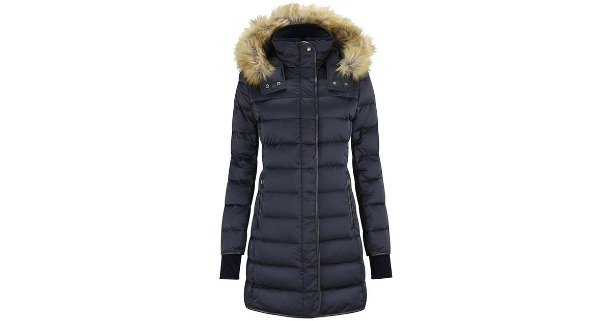 5a8370ce69f Lyst - Schoffel Mayfair Down Coat in Blue